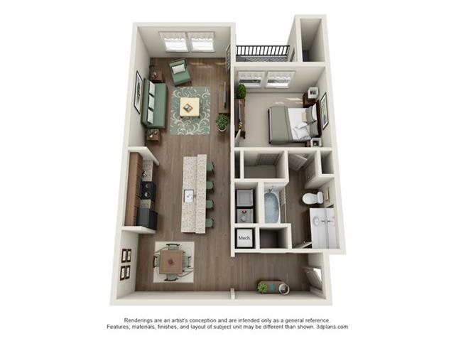 1 Bedroom Apartments - 5 Available Now