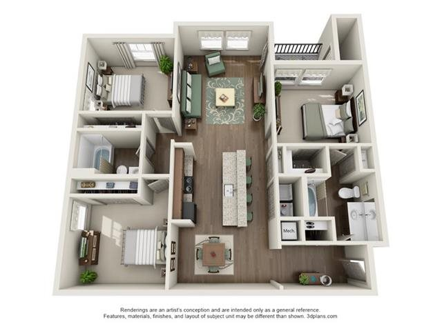 3 Bedroom Apartments - 3 Available Now